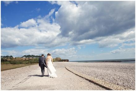 Budleigh Beach wedding photography Devon